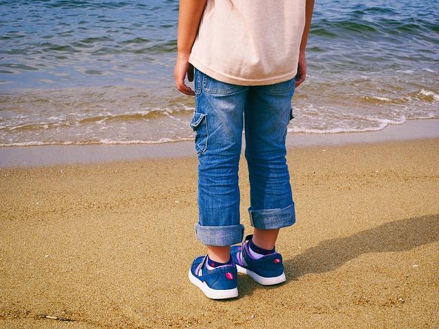 Sea, Sandy, Beach, Coast, Children, Summer Vacation