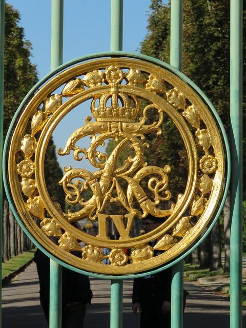 Potsdam, Sanssouci, Emblem, Goal, Green Grid, Gate