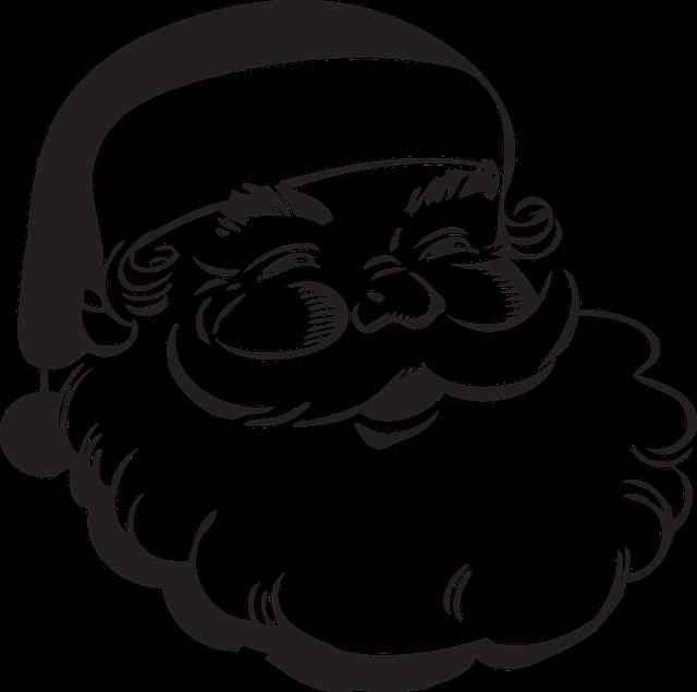 Santa Claus, Gifts, Beard, Hat, Vintage, Christmas