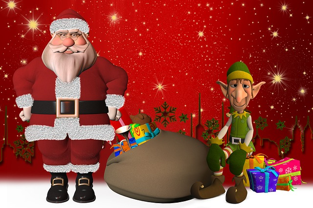 Santa Claus, Eleven, Elf, Fig, Gifts, Fairytale, Ears
