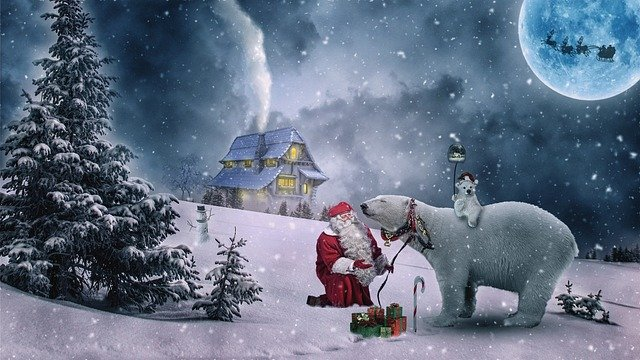 Christmas, Christmas Motive, Winter, Santa Claus