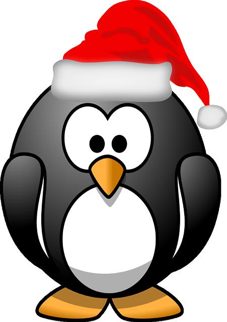Penguin, Xmas, Santa Claus, Tux, Santa, Hat