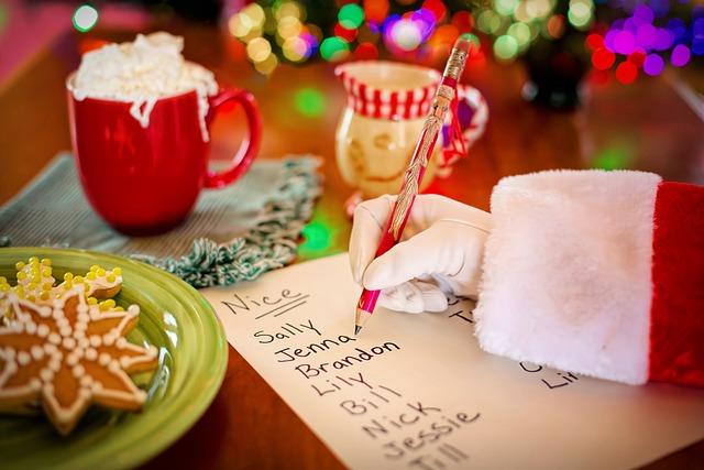 Santa's List, Naughty Or Nice, Santa's Arm, Christmas
