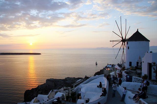 Santorini, Cyclades, Windmill