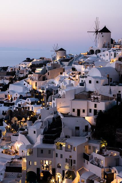 Greece, Oia, Sea, Santorini, Summer, Homes, Sea View