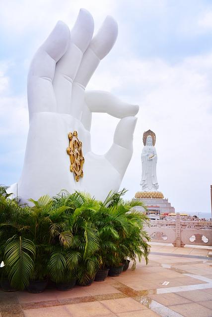 South China Sea, Sanya, Goddess Of Mercy Buddha Statue