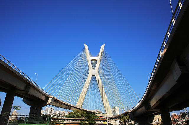 Bridge, Cable-stayed, São Paulo, Architecture, Modern