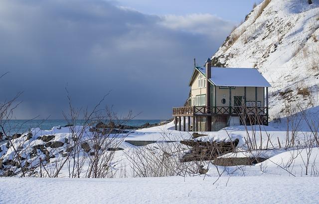 Japan, Hokkaido, Winter, Sapporo, Snow, Gel, House