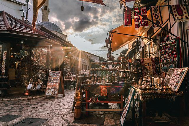 Sarajevo, Bosnia, Market, Urban, Desolate, City, Old