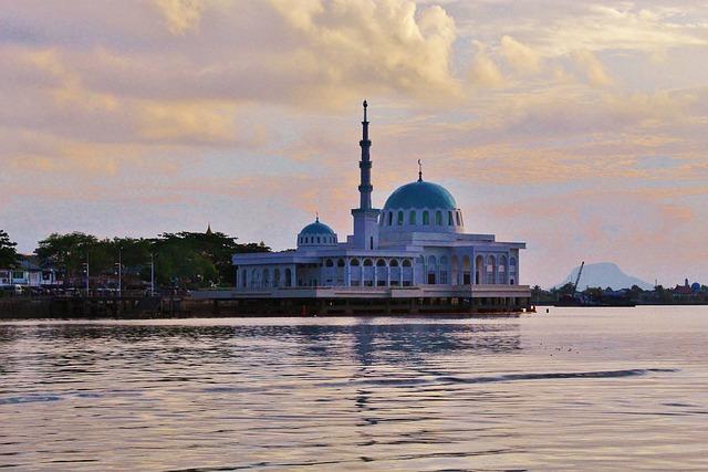 Masjid India, Floating Mosque, Kuching, Sarawak, Borneo