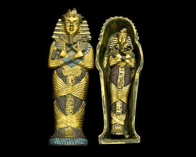 Sarcophagus, Mummy, Egypt, Treasure, Isolated, Gold