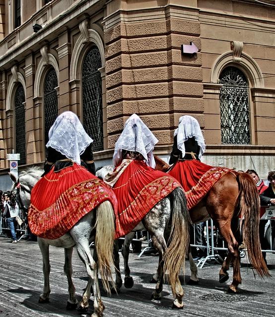 Italy, Sardinia, Cagliari Folklore Costumes