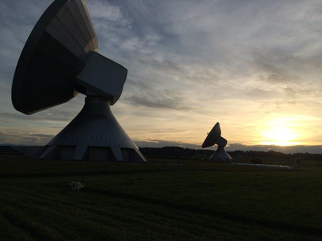 Satelietenanlage, Satellite Dish, Radar Dish, Radar