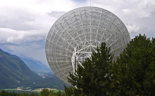 Radio Telescope, Satellitenbeoabachtung, Switzerland