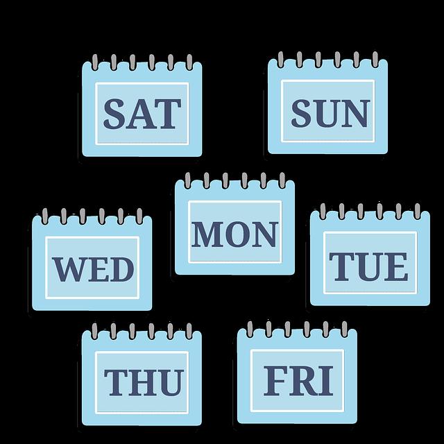 Time Management, Week, Calendar, Days, Saturday, Sunday