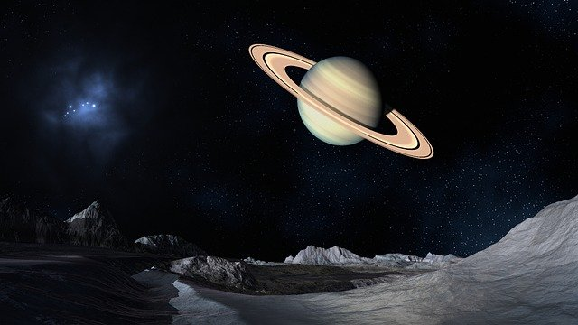 Saturn, Space, Lunar Surface, Planet, Saturn Rings