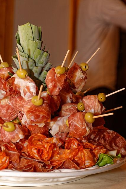Ham, Sausage, Pineapple, Eat, Food, Meat, Wurstplatte