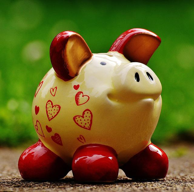 Piggy Bank, Heart, Funny, Ceramic, Save, Savings Bank