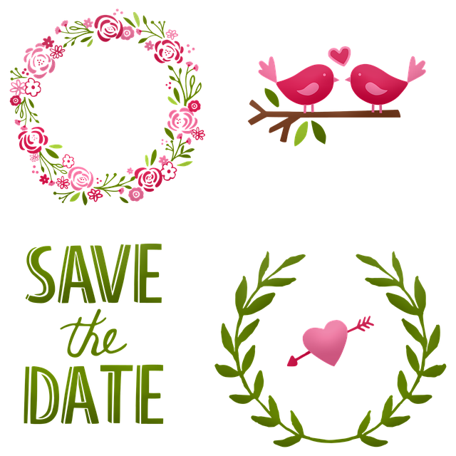Wedding, Cake Wreath, Save The Date, Marriage