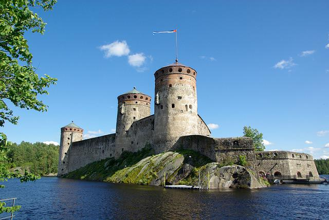 Finland, Savonlinna, Fortress, Castle, Lake