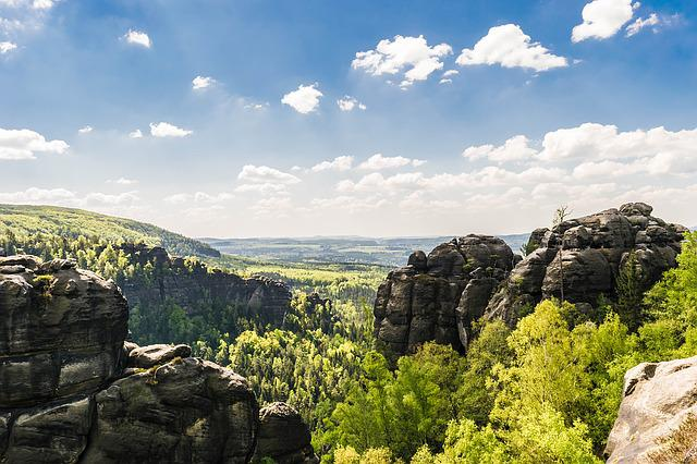 Rock, Saxon Switzerland, Mountains, Landscape