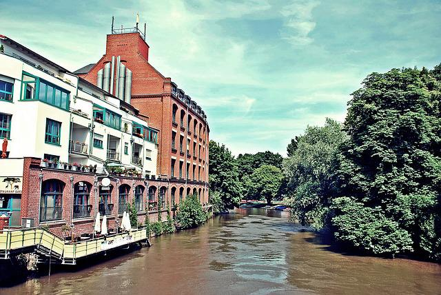Elster, River, Leipzig, Water, Saxony, Hdr