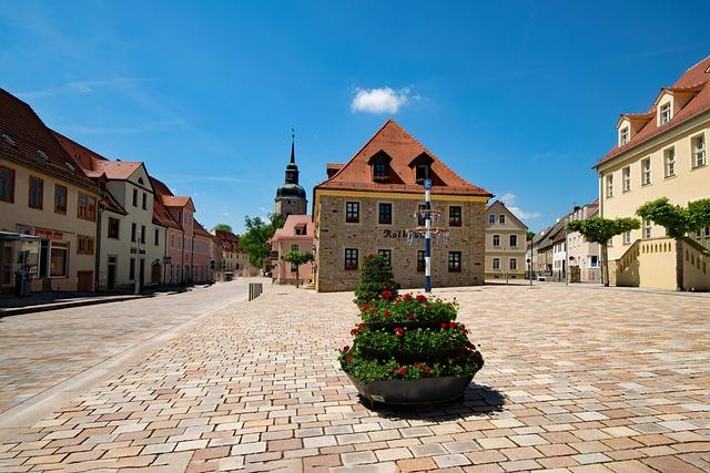 Town Hall, Bad Lauchstädt, Goethe City, Saxony-anhalt