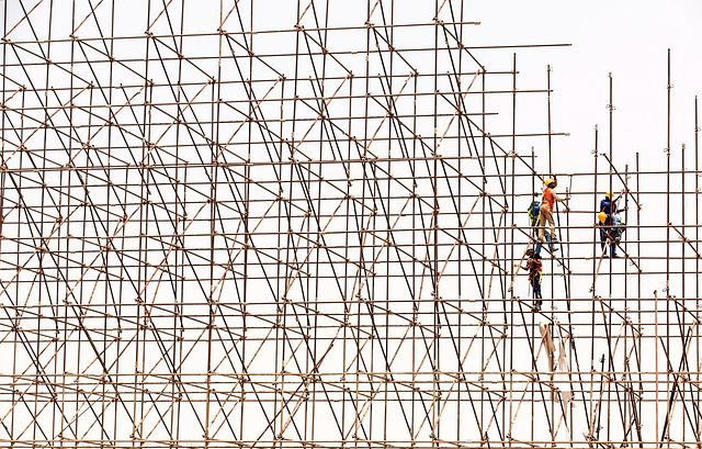 Scaffolding, Workers, Construction, Site, Scaffold