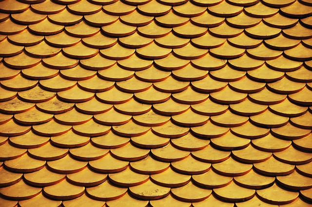Scales, Gold, Temple, Roof, Gilded