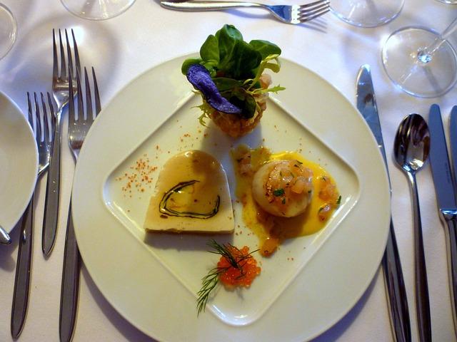 Scallop, Glazed, Caviar, Salad, Starter, Nutrition, Eat
