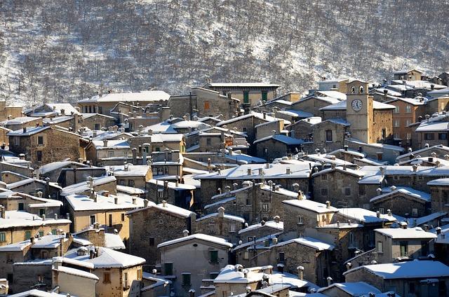 Scanno, Abruzzo, Snow, Winter, Italy, Mountain, Town