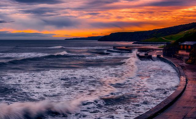 Scarborough, North Yorkshire, Seascape, Sunrise
