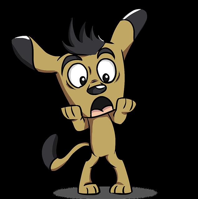 Animal, Canine, Cartoon, Dog, Pet, Puppy, Scared