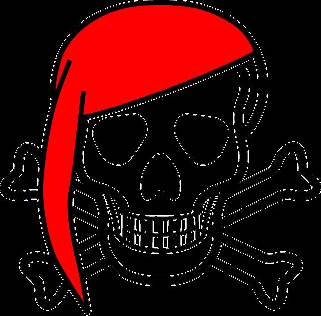 Skull, Crossbones, Bones, Scarf, Jolly, Roger, Pirates