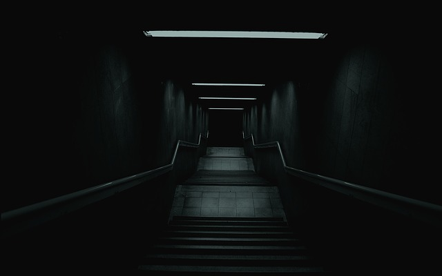 Ladder, Darkness, Mystery, Stairs Dawn, Corridor, Scary