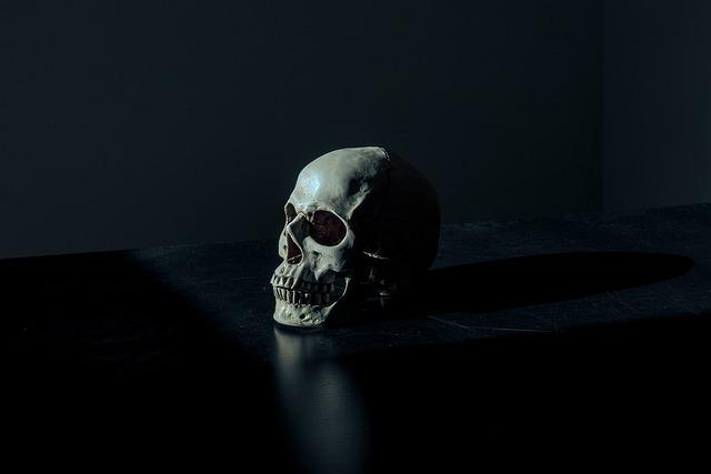 Creepy, Dark, Eerie, Scary, Skull, Death, Dead, Human