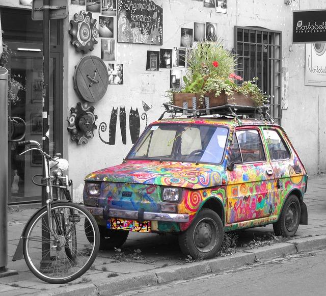 Car, Fiat, Magic, Vehicle, Scene, Automobile, Unique
