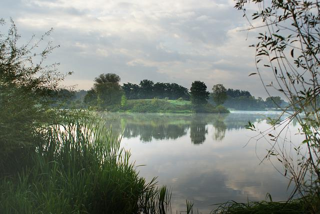 Island, Lake, Nature, Clouds, Scenery, Landscape