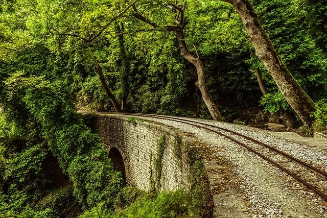 Rails, Bridge, Trees, Nature, Railway, Scenery, Summer