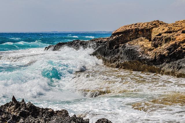 Rocky Coast, Wave, Sea, Nature, Scenery, Splash, Foam