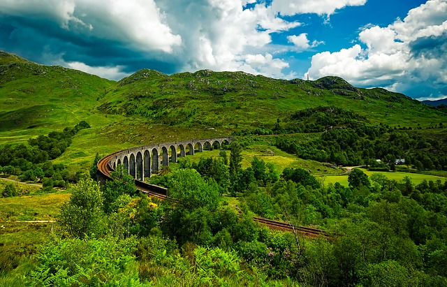 Scotland, Viaduct, Landscape, Scenic, Landmark