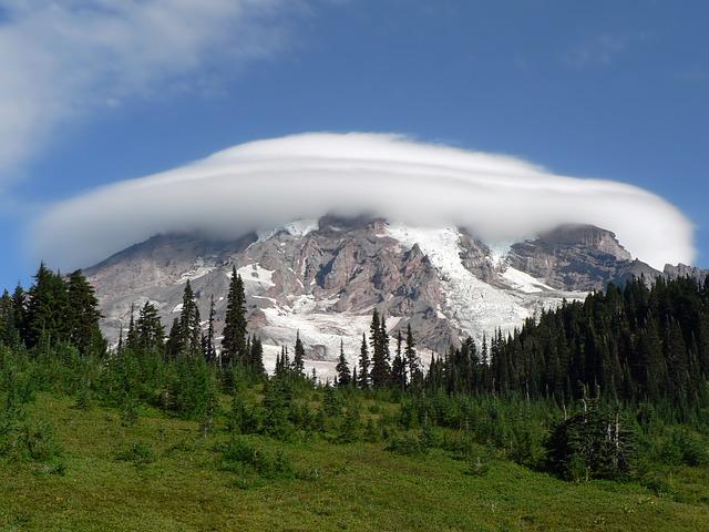 Mount Rainier, Washington, Landscape, Scenic, Landmark