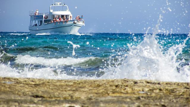 Cruise Boat, Summer, Sea, Vacation, Wave, Scenic