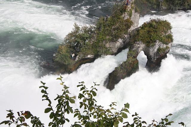 Waterfall, Water, Murmur, Rhine Falls, Schaffhausen