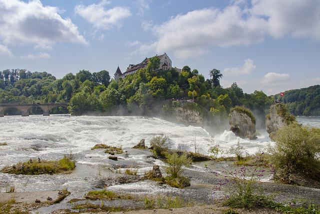 Rhine Falls, Rhine, Schaffhausen, Waterfall, Water Mass