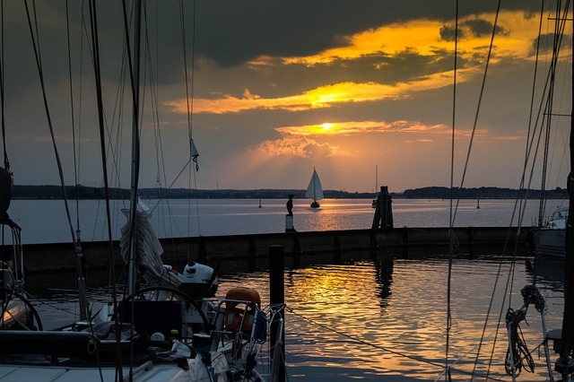 Approximately, Schlei, Sunset, Port