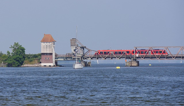 Schlei, Bottleneck, Bascule Bridge, Lindaunis Bridge