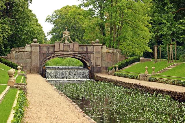 Ludwigslust-parchim, Bridge, Castle Park, Schlossgarten