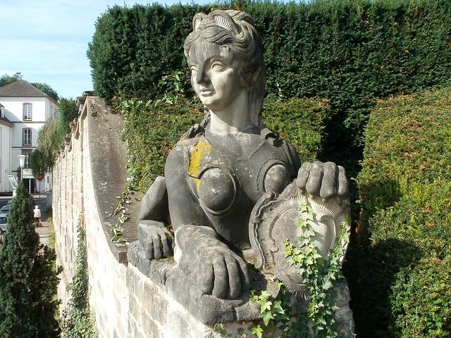 Sculpture, Sphinx, Schlossgarten, Saarbrucken, Statue