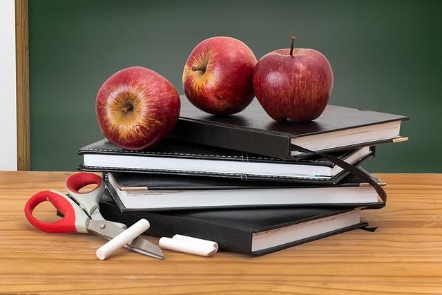 School, Books, Apples, Blackboard, Green Board